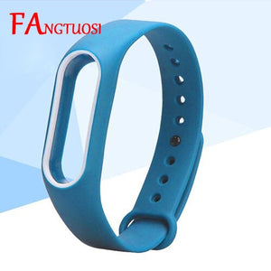 Double color mi band 2 accessories strap miband 2 replacement silicone wrist strap for xiaomi mi 2 smart bracelet wristband