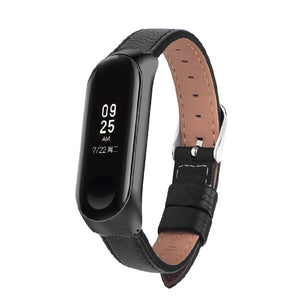 Colorful Leather Black Rose Gold Case Smart Watch band for Xiaomi Mi Band 3 strap For xiaomi mi band 3 bracelet Miband 3 Strap