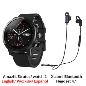 Huami Amazfit 2 Amazfit Stratos Pace 2 Smart Watch Men with GPS Xiaomi Watches PPG Heart Rate Monitor 5ATM Waterproof