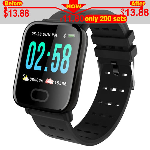 A6 Smart Band reloj inteligente pulsometro ritmo cardi Fitness Tracker Remote Control Smart Bracelet Waterproof Wristband Watch.