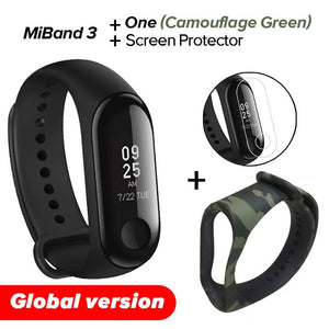 In Stock Xiaomi MiBand 3 Mi band 3 Fitness Tracker Heart Rate Monitor 0.78'' OLED Display Bluetooth 4.2 For Android IOS