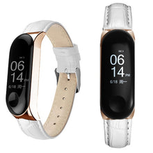 Black Rose Gold Case Smart Watch band for Xiaomi Mi Band 3 Leather strap For xiaomi mi band 3 bracelet Miband 3 Strap
