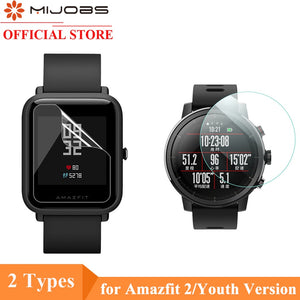 Mijobs 2Pcs For Xiaomi Huami Amazfit Bip PACE Lite Watch Soft TPU Screen Protector Nami (Not Tempered Glass) Protective Film