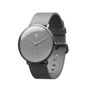 XIAOMI Mi Mijia QUARTZ Smart Watch Life Waterproof with Double Dials Alarm Sport Sensor Pedometer Time Leather Band Mi Home APP