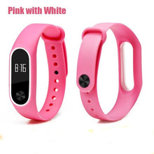 Sport Strap for mi band 2 Bracelet Anti-Lost Strengthen Silicone Strap for Xiaomi mi band 2 Replacement Strap for mi band 2