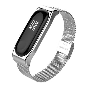 Metal Bracelet for Xiaomi Band 3 Wrist Strap Miband 3 Wristband Smart Watch Band Mi Band3 Stainless Steel Strap for Mi3