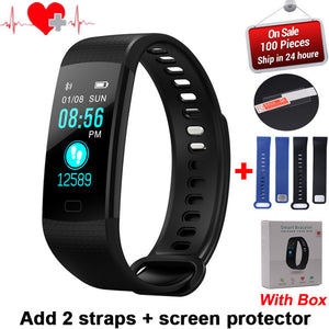 Y5 Smart Band Watch Color Screen Wristband Heart Rate Activity Fitness tracker Smart Electronics Bracelet VS Xiaomi Miband 2