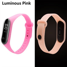 BOORUI Big Sale  Luminous Mi band 3 Strap mi3 watchbands accessories Night Light wrist Replacement for Xiaomi miband 3 smartband
