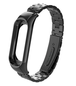 Metal Strap for Mi Band 3 Replacement Wrist Strap for Xiaomi Mi Band Smart Bracelet Accessories Steel Strap for Mi Band