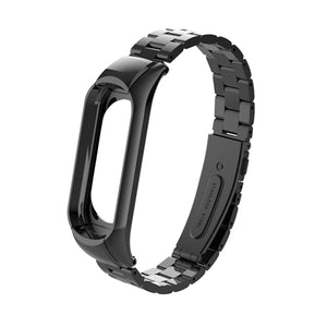 Stainless steel wrist strap for xiaomi mi band 3 metal watch band smart bracelet miband 3 belt replaceable watch straps mi 3