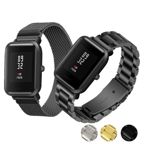 20mm Bracelet For Amazfit Bip Strap Metal Stainless Steel For Xiaomi Huami Amazfit Bip BIT Youth Watch Replace Wrist band Straps