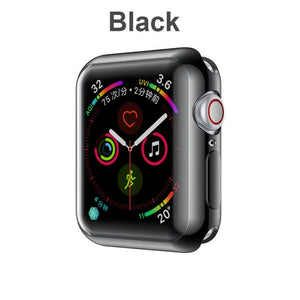 Fashion 360 Degree Slim Watch Cover for Apple Watch 3/2 42MM 38MM Case Soft Clear TPU Screen Protector for iWatch 4 44MM 40MM