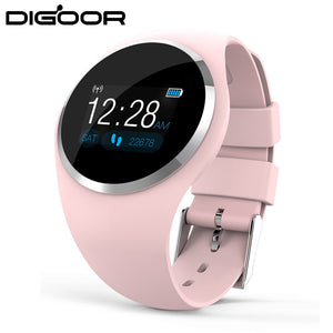 DIGOOR Smart watch women IP67 waterproof Activity tracker Fitness bracelet with Blood pressure Monitor Heart Rate tracker watch