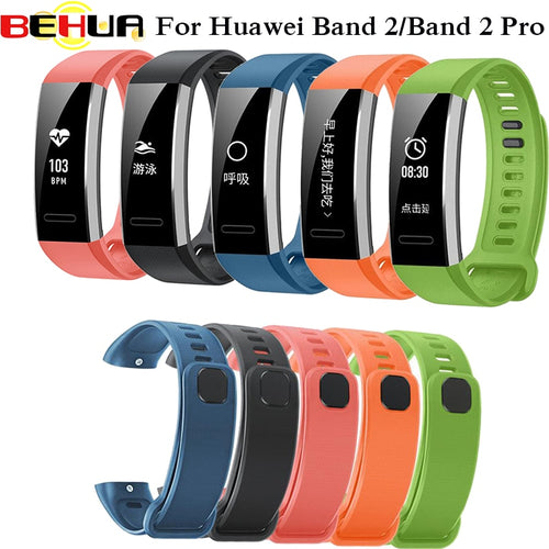 Replacement wrist band watch strap for Huawei Watch silicone rubber watchband accessories for Huawei band 2 B19/B29 pro strap