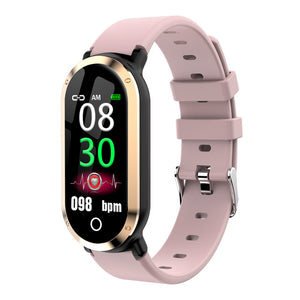 T1 Smart Wristband Woman Heart Rate Blood Pressure Monitor Fitness Bracelet tracker Pedometer Band for IOS Android PK mi band 3