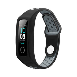Two-tone silicone strap for honor band 4 Smart Sports Bracelet huawei honor band 4 Porous breathable Replacement sports strap