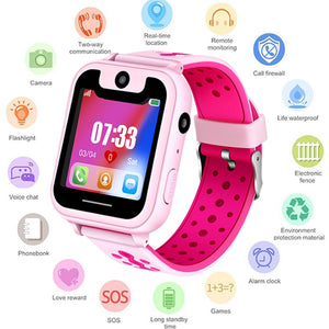 S6 Kids Smart watch LBS Smartwatches Baby Watch Children SOS Call Location Finder Locator Tracker Anti Lost Monitor Kids Gift.