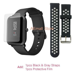 English Version Xiaomi Amazfit Bip Smart Watch Men Huami Mi Pace Smartwatch For IOS Android Heart Rate Monitor 45 Days Battery