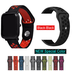 Silicone Strap Bracelet For Huami Amazfit Bip Strap Watch Band 20mm For Xiaomi mijia quartz Garmin Forerunner 645 Vivoactive 3