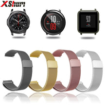 XShum 22mm 20mm Metal Stainless Band For Xiaomi Amazfit Bip Pace Strap Wrist Milanese Loop Magnetic Strap Smart Watch bracelet