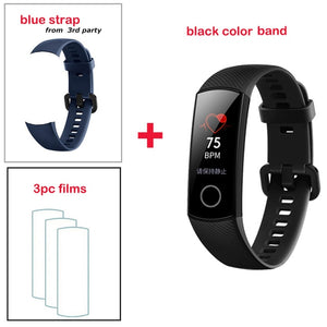 Original Huawei Honor Band 4  Smart Bracelet 50m Waterproof Color ouch screen Heart Rate Sleep Snap Smart Wristband