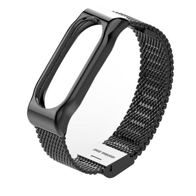 Mijobs Mi Band 2 Strap Metal Bracelet Screwless Stainless Steel Bracelet Wristbands Replace Accessories For Xiaomi Mi Band 2