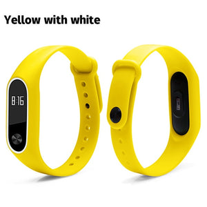 BOORUI Double color mi band 2 accessories pulseira miband 2 strap replacement silicone wriststrap for xiaomi mi2 smart bracelet