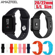Silicone Watch Strap For Xiaomi Huami Amazfit Bip Wrist Strap 20mm Watchband Bracelet Samsung Galaxy Active Garmin vivoactive 3