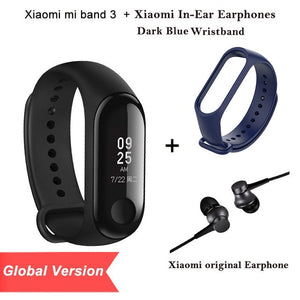2018 Global Version New Original Xiaomi Mi Band 3 Smart Bracelet Black 0.78 inch OLED  Instant Message Call Weather Forecate