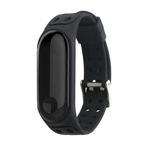 Torntisc Silicone Double Color Double-breasted Sports wrist Strap for Xiaomi Mi Band 3 Anti-lost Replacement Strap for Mi band 3