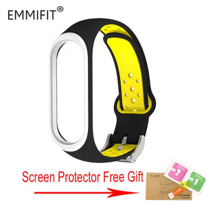 For Xiaomi Mi Band 3 Strap Smart Accessories Replacement Waterproof Double Color Silicone Bracelet For Mi Band3 wrist strap