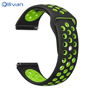 Silicone Strap For Xiaomi Huami Amazfit Stratos 2 Pace Smart Watch Band 22MM Sport Strap For Samsung Gear S3 Huawei GT Active