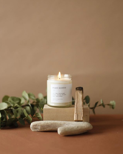 Palo Santo Minimalist Candle by Brooklyn Candle Studio