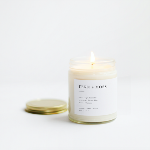 Fern + Moss Minimalist Candle by Brooklyn Candle Studio