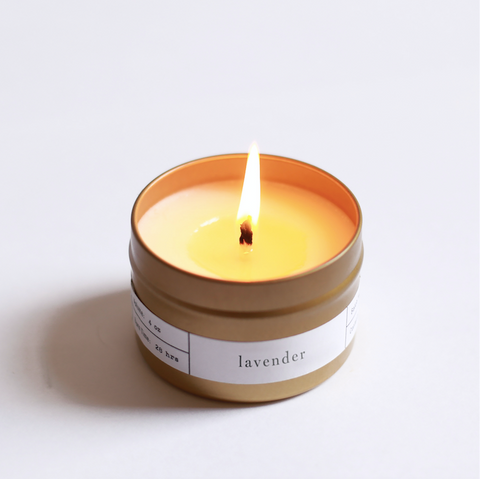 Lavender Gold Travel Candle by Brooklyn Candle Studio