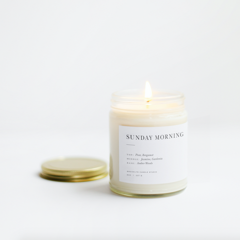 Sunday Morning Minimalist Candle by Brooklyn Candle Studio