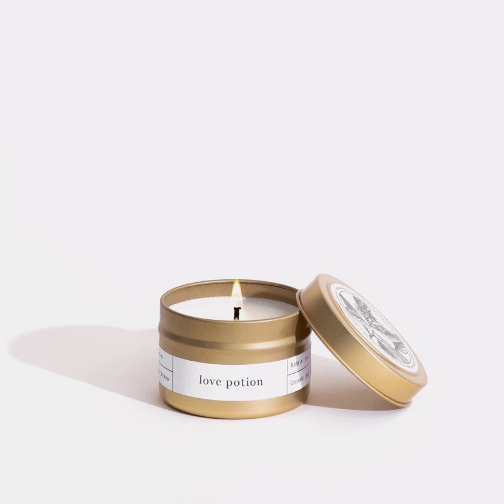 Love Potion Gold Travel Candle by Brooklyn Candle Studio