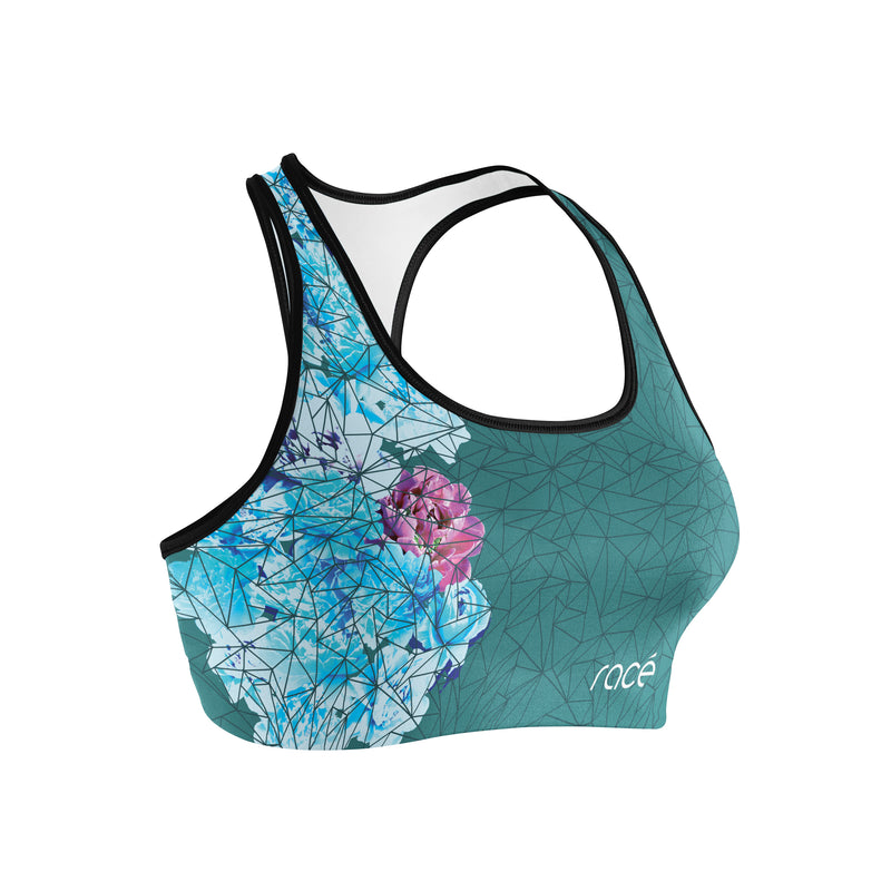 racé Sakura Dark Green sports bra