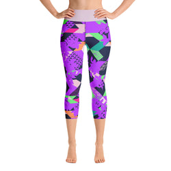 racé Franklin purple high waist capri legging