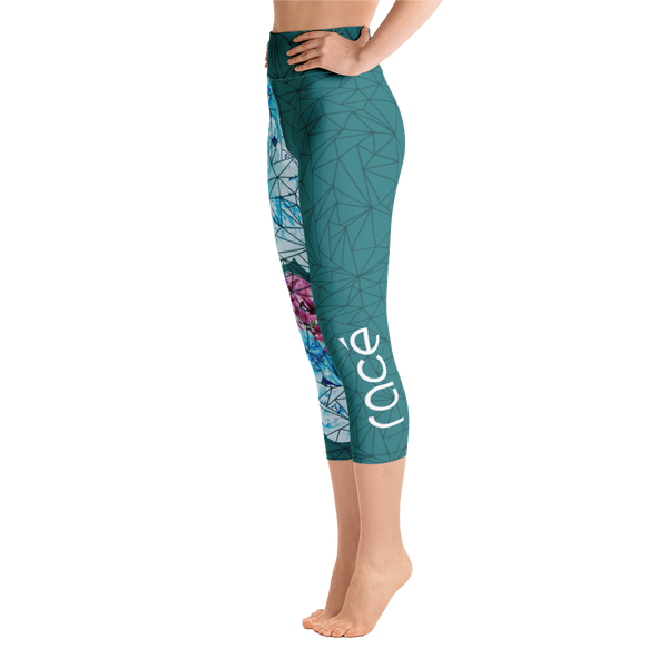 Racé Sakura Dark Green Capri High waist legging
