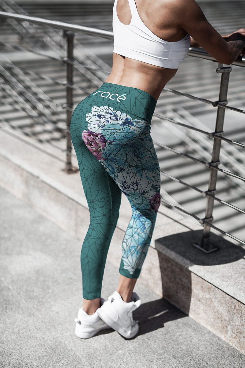 racé sakura dark green high waist legging