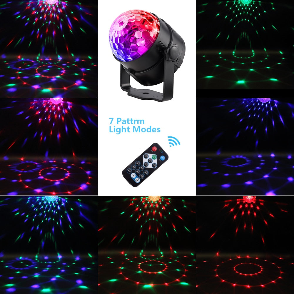 Disco Ball Sound Activated Laser Projector