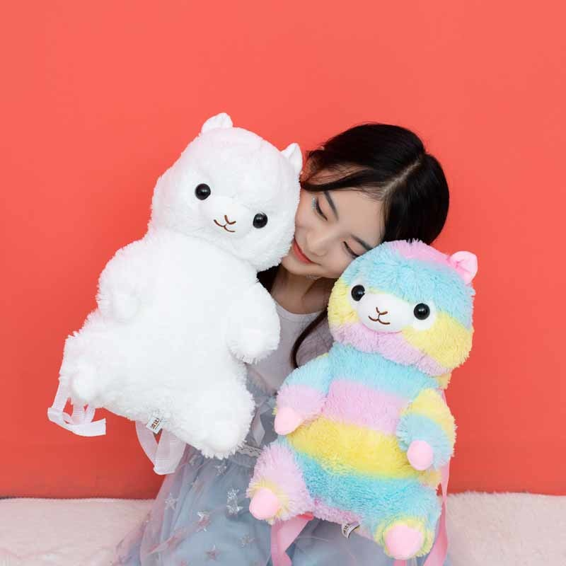 Kawaii Alpaca Plush Backpack