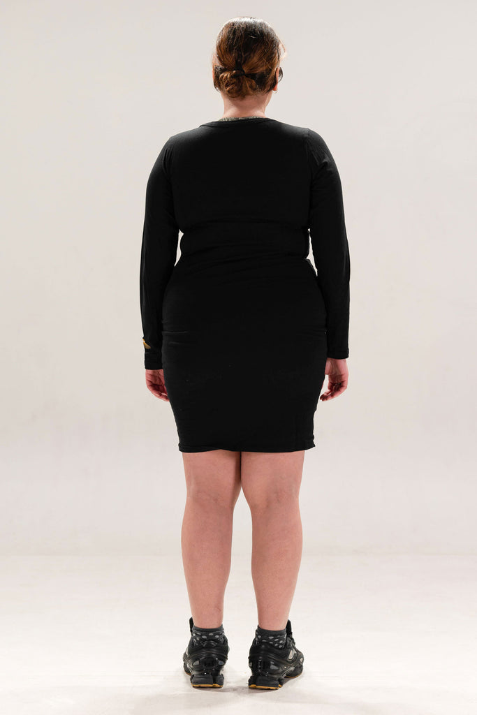 ATEN18 DRESS - BLACK TEXT
