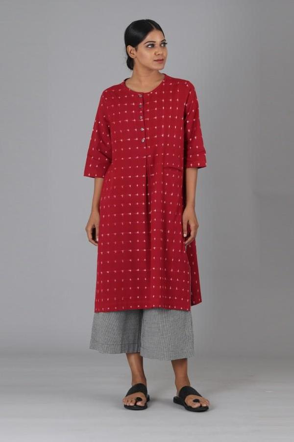 Red Box Slit Kurta