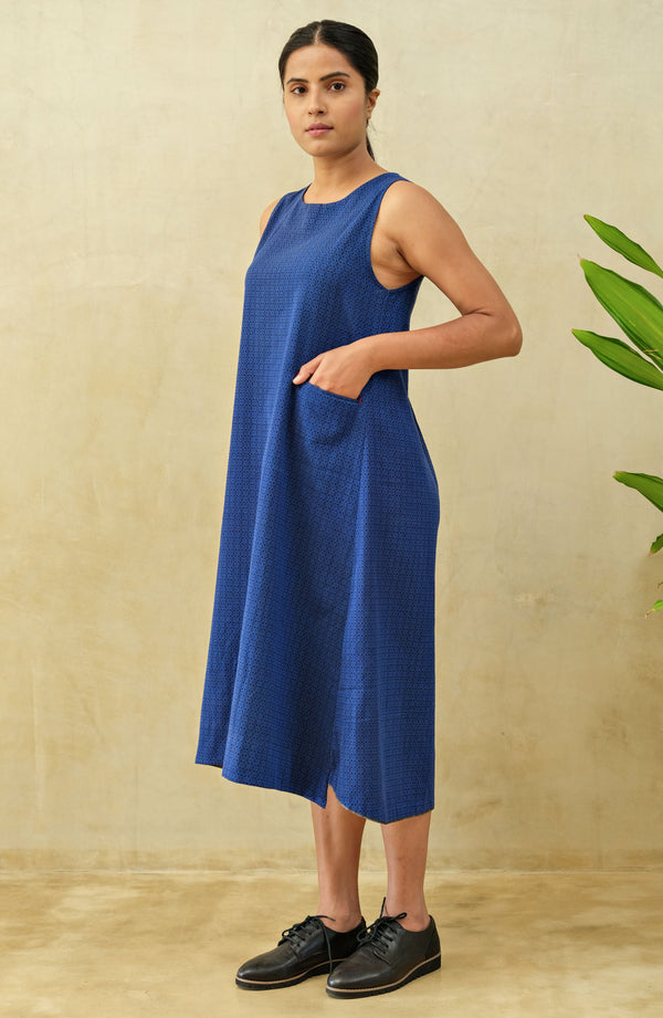 Azure Sleeveless Shift Dress