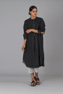 Black Wire Long Kurta