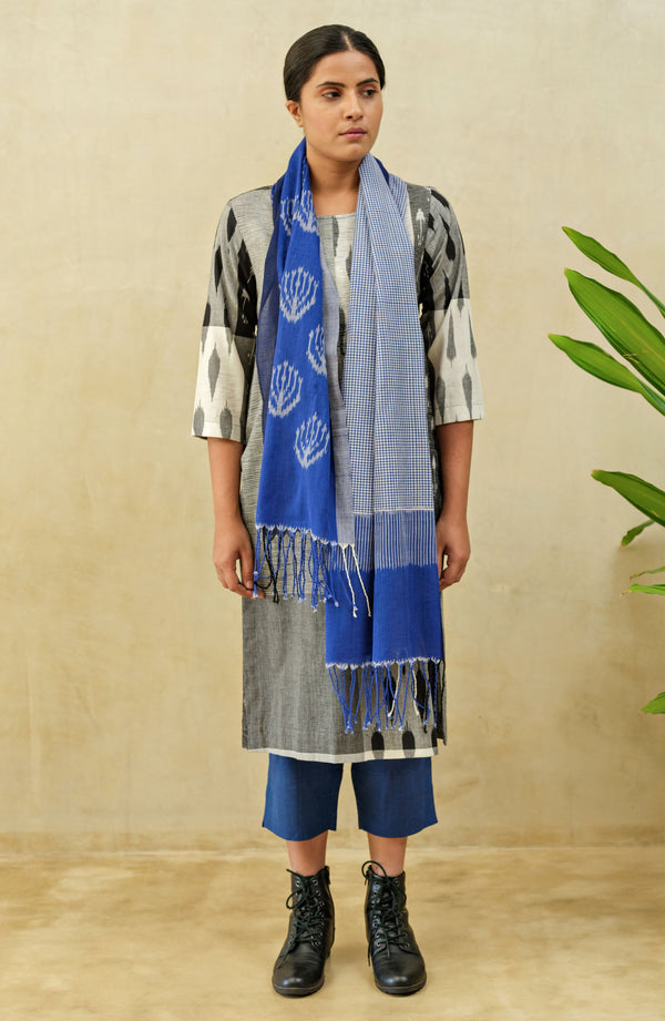 Black Ice Pleated Kurta