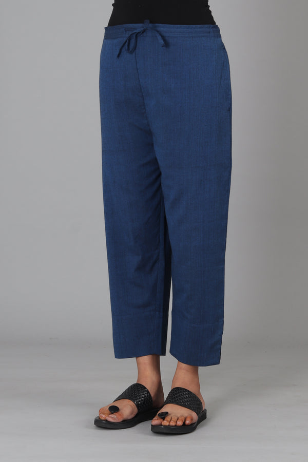 Deep Blue Capri Trouser