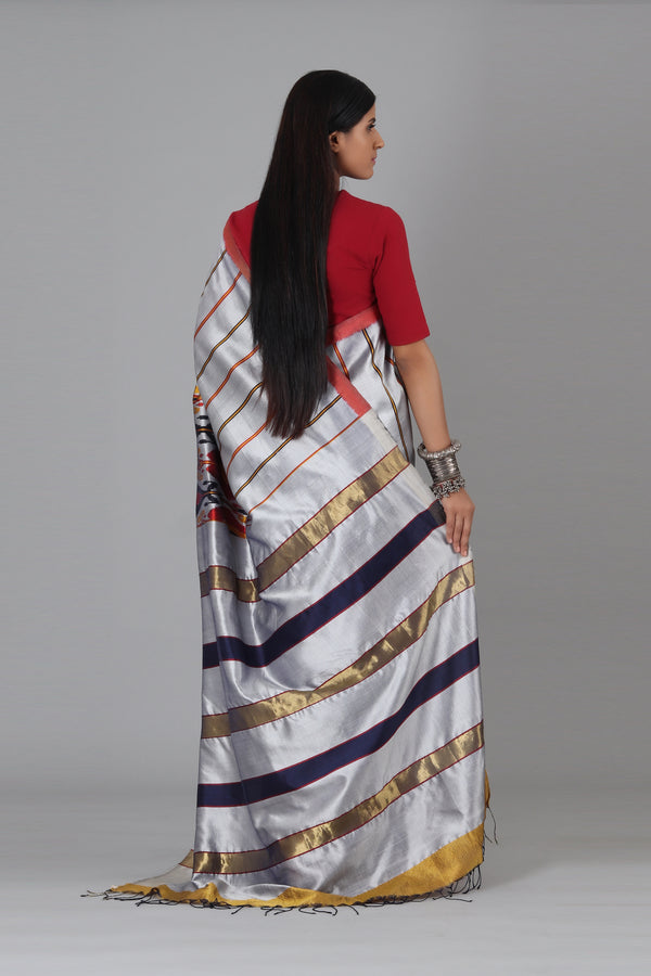 Gladiolas Silk Saree